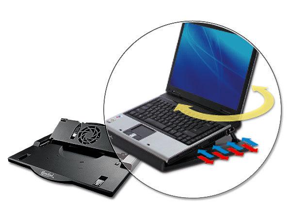 support ergonomique ventile pour ordinateur portable 12 17. Black Bedroom Furniture Sets. Home Design Ideas